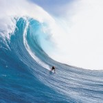 Surfing a big wave